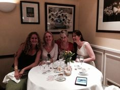 The girls together again at Caraffini's in London