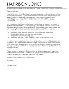 Wonderful Cover Letter Template Software Engineer