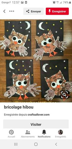 - Fall Crafts For Toddlers Autumn Crafts, Fall Crafts For Kids, Holiday Crafts, Art For Kids, Owl Preschool, Kindergarten Art, Preschool Activities, Forest Animal Crafts, Forest Crafts