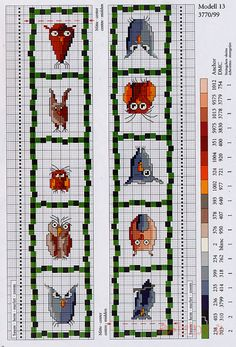 "Photo from album ""Zweigart Stickideen: Eulen - on Yandex. Cross Stitch Geometric, Tiny Cross Stitch, Cross Stitch Books, Cross Stitch Bookmarks, Cross Stitch Borders, Cross Stitch Animals, Cross Stitch Designs, Cross Stitching, Cross Stitch Embroidery"