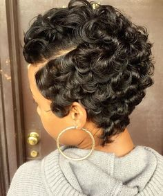80 Best Short Pixie Hairstyles for Black Women 2018 2019 Short hair styles Short Sassy Hair, Short Curls, Short Hair Cuts, Pixie Cuts, Short Black Hairstyles, Pixie Hairstyles, Pixie Haircut, Braided Hairstyles, Black Haircut Styles
