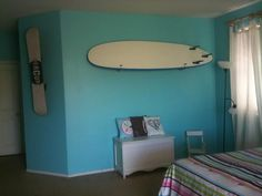 Surf bedroom, teal rooms