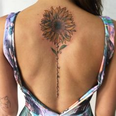 Sunflower Tattoo Artist: éo araújo Watercolor specialist tattoo #tattooswomensdesigns