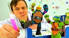 ЧЕРЕПАШКИ НИНДЗЯ и Доктор Ой! Видео для детей с игрушками. Микеланджело ...