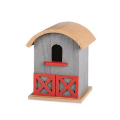 US: Wood Barn Birdhouse, large
