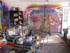 Gerard Stricher's studio-- AMAZING......INSPIRING....