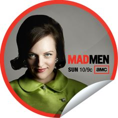 Mad Men: Peggy...Can poised Peggy keep her cool during a hard pitch? Watch Mad Men and earn your Peggy sticker on GetGlue.com
