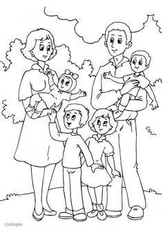 Preschool Family Coloring Pages With : Preschool Family Coloring Pages With Ideas Gallery : Free Coloring Pages for Kids Family Coloring Pages, Free Adult Coloring Pages, Coloring Sheets For Kids, Coloring Pages For Girls, Printable Coloring Pages, Colouring Pages, Coloring Books, Coloring Pictures For Kids, Human Drawing
