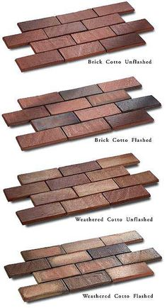 Fun tile flooring that looks like old cobblestones or bricks.