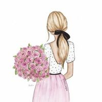 Image about flowers in Illustration by Loren on We Heart It Girly Drawings, Illustrators On Instagram, Fashion Design Sketches, Cartoon Art, Designs To Draw, Cute Wallpapers, Art Girl, Art Sketches, Fashion Art