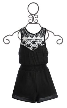 Now THIS is perfect. Black Romper Lace Back $46.00