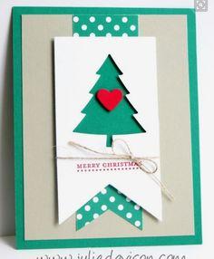 Christmas card Silhouette cameo.  Tree
