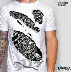 Kode: Terminator - bahan cotton combed 24s - sablon DTG (sablon masuk ke serat kain) - Pilihan warna: bisa semua warna kaos - preorder - Tersedia ukuran baby, kids, male, female - Tersedia untuk lengan panjang, lengan raglan, lengan pendek . Pemesanan hubungi: - SMS/ WA: 08990303646 - BBM: D3BCEDC3