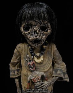 Mummy Art Doll Sculpture – by Shain Erin, via Flickr