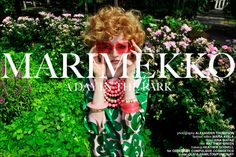 Marimekko Bold, a day in the park with 16 year old model beauty Olivia Hamilton, wearing vintage and modern Marimekko womenswear.