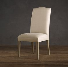 Nice shape on back of chair - Hudson Camelback Upholstered Side Chair   Upholstered Chairs   Restoration Hardware