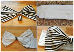 Trash To Couture: #Bow #Bikini Bandeau #DIY  Would be the cutest swim suit.