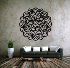 6011 mandala Om ornamento de Namaste Yoga decalque Menhdi flor padrão Om indiano… - Tap the pin if you love super heroes too! Cause guess what? you will LOVE these super hero fitness shirt Wall Painting Decor, Art Decor, Room Decor, Tattoo Studio, Clinic Design, Wall Drawing, Wall Tattoo, Painted Floors, Creative Home