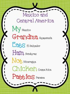 Getting Creative with Spanish Speaking Countries and Capitals...tips for teaching blog post.
