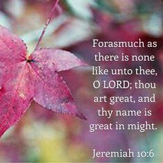 Jeremiah 10:6 KJV