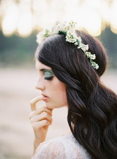 flower hair garland for the bridesmaids