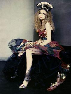 Natalia Vodianova by Paolo Roversi in Vogue Russia 2008
