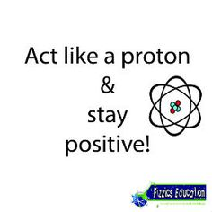 Act like a proton and stay positive