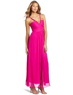 Special Offers Available Click Image Above: Bcbgmaxazria Women's Hall Long Strap Detail Gown