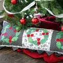 FREE Checkerboard Cherries bolster pillow pattern, designed by Kathy Patterson