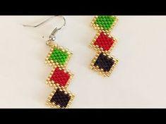 Miyuki delica boncukla elmas nasıl yapılır ?|How to make a diamond using miyuki delica beads ? #DIY - YouTube