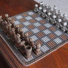 Wicker Chess Set admired by our rattan furniture... | Wicker Furniture  www.wickerparadise.com