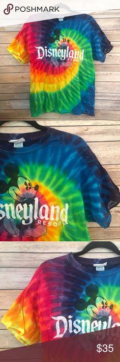 Disneyland tie dye shirt Authentic Disneyland tie dye Tshirt. Worn once. No signs of wear. Disney Tops Tees - Short Sleeve