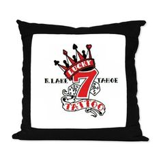 Suede Pillow available online at www.cafepress.com/lucky7tattooandpiercing