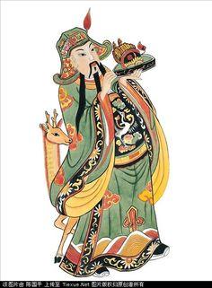Chinese Traditional Door Gods Read More… Chinese Painting, Chinese Art, Chinese Style, Chinese New Year Card, Japanese Art Prints, Chinese Element, Chinese Cartoon, Chinese Mythology, Nature Spirits