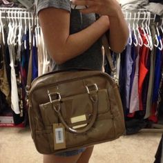 Zac Posen Beige Satchel Brand new, no trades. Zac Posen. Z Spoke patent/leather satchel, with shoulder strap. Comes with red dust bag. Zac Posen Z Spoke Bags Satchels