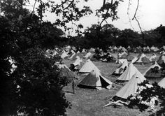 """The tented camp at Cholmondeley near Chester, the first """"home"""" to Czechoslovak soldiers in Great Britain. Catholic Priest, Never Again, Paratrooper, Chester, Great Britain, Soldiers, About Uk, Outdoor Gear, Wwii"""