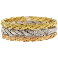 Buccellati Oro Tri Color Gold Band Ring