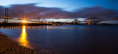 The Forth Bridges from South Queensferry beach. by Buster Brown on 500px