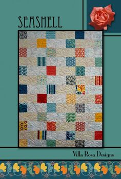 Seashell quilt pattern by Pat Fryer, Villa Rosa Designs