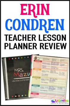 ERIN CONDREN TEACHER PLANNER LESSON PLAN TEMPLATE ...
