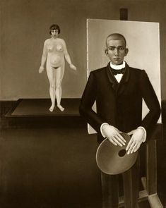 Anton Räderscheidt - Painter and Model 1926 (missing or destroyed) Anton, New Objectivity, August Sander, Artists And Models, Magic Realism, Painting, Image, Cologne, Blind
