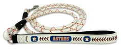 Houston Astros Baseball Leather Leash - L