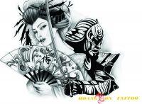 hình xăm geisha 38