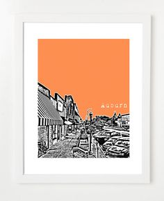 Auburn Poster  Alabama State City Skyline Series Art by birdAve, $20.00 - for Emily H
