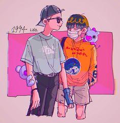 Namjoon & Jhope Fanart | ♡ cred to the artist for making my boys soo beautiful