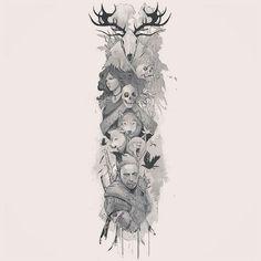 Najlepsze Obrazy Na Tablicy Wiedźmin Tatuaże 35 Conceptual Art