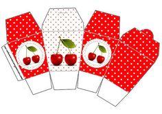 Cajitas para imprimir gratis con cerezas.