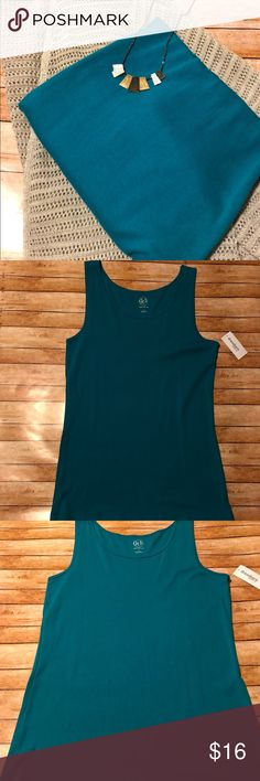 Just In 👚 Teal Sleeveless Top NWT NWT Teal Sleeveless Top 👚 Size: Large 🌟 Reasonable Offers Welcomed 🌟 Bundle and Save Westport 1962 Tops Tank Tops
