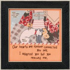 Cross Stitch Kit, You Rescued Me Counted Cross Stitch Kit by Mill Hill, Curly Girl Design Series, Dog Pattern WI by GriffithGardens on Etsy