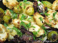 Les Cinq Sens: Choux rôtis et beurre noisette aux câpres